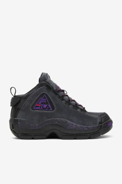 FILA Grant Hill 2 Mid 96 Outdoor Black Electric Purple 1BM00861 New
