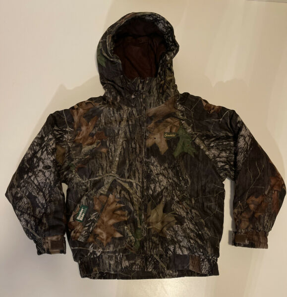 GameHide Youth M 05 Insulated Winter Hunting Camo Jacket Hooded Puffer Mossy Oak