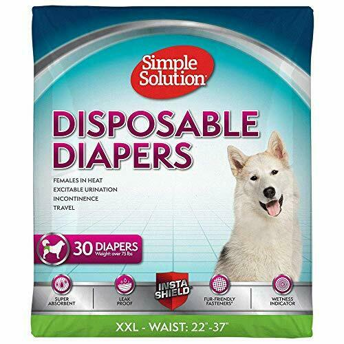 Simple Solution True Fit Disposable Dog Diapers for Female Dogs Super Absor... $31.98