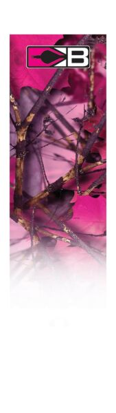 Bohning 4 Inch Carbon HD Arrow Wraps X Small Pink Camo $29.28