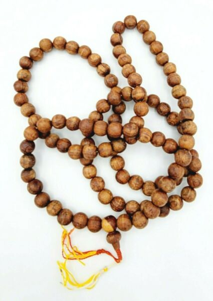 Large Wood Prayer Beads Tibet Buddhist Mala Necklace 11mm PRE OWNED