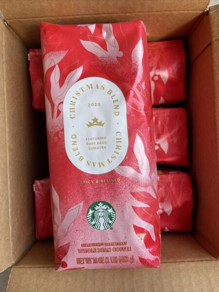 Starbucks Whole Bean Coffee Holiday Dark Sumatra Blend Case Of 6 1LB Bags