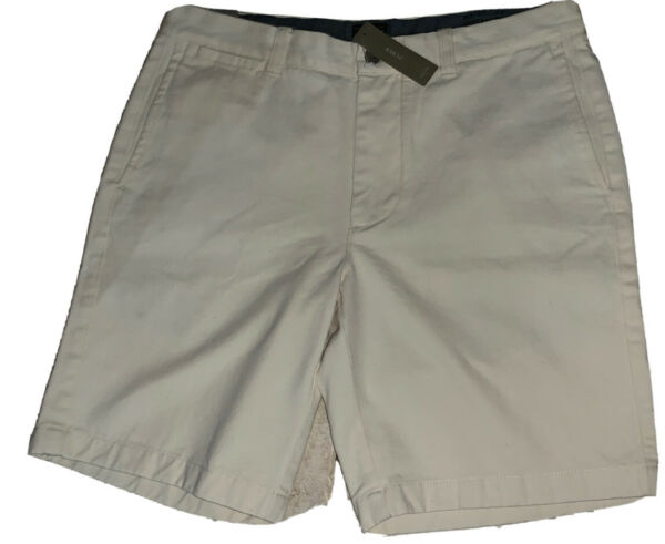 "J.Crew Men#x27;s Shorts Stanton Chino Natural Off White Waist 33"" Ins 9quot; NWT New"
