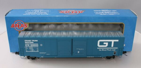Atlas 7551 4 O Grand Trunk Western 60#x27; Auto Parts Box Car #306633 2Rail NIB $86.99