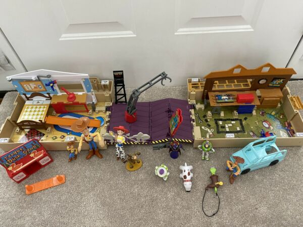 Disney Pixar Toy Story Pop Up Fold Out Wagon Playset Andy#x27;s Room Toy and Figures $39.99