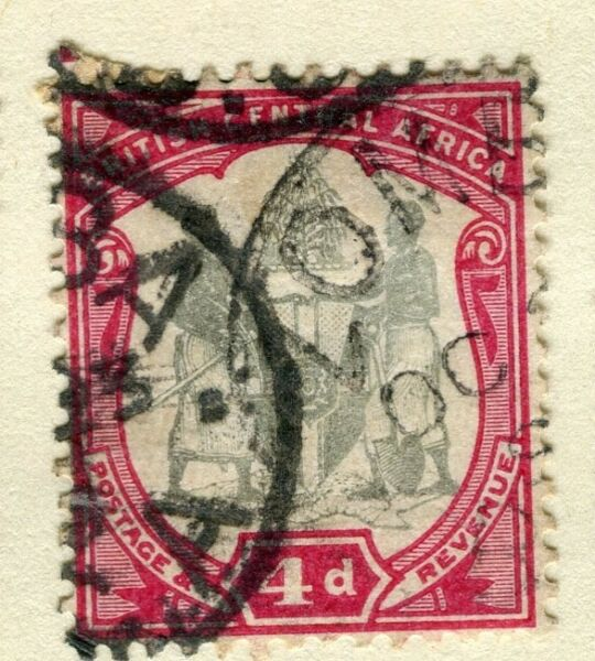 NYASALAND; 1897 early classic Central Africa. Wmk issue fine used 4d. value GBP 2.00