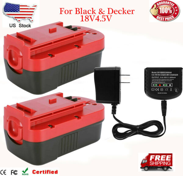 18Volt For Black amp; Decker HPB18 4.5Ah Ni MH Battery HPB18 OPE 244760 00 Charger