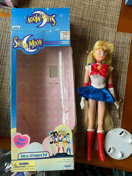 Vintage SAILOR MOON Deluxe Adventure Doll 11.5quot; Poseable NIB by Irwin Toy