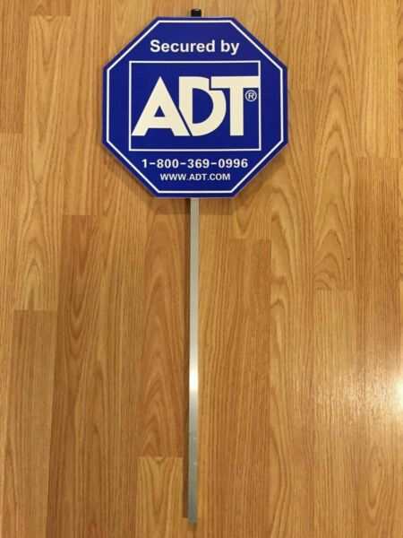 NEW 2018 ADT SECUITRY YARD SIGN AND NO FREE STICKERS WATERPROOF amp; UV RESISTANT