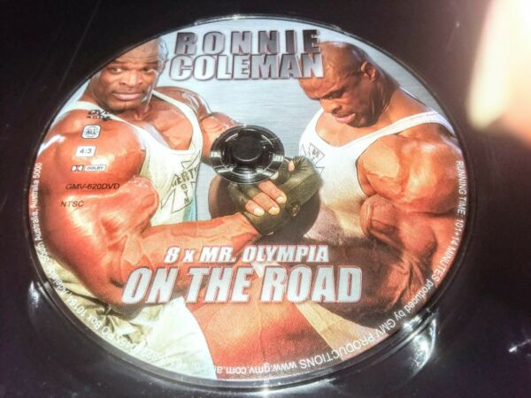 Ronnie Coleman: On the Road 8 x Mr. Olympia DVD 2005 Disc Only No Case $19.95