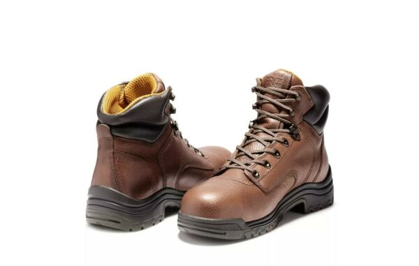 *NEW IN BOX* MEN#x27;S TIMBERLAND PRO TITAN 6quot; ALLOY TOE WORK BOOTS *Size 8.5W* $94.95