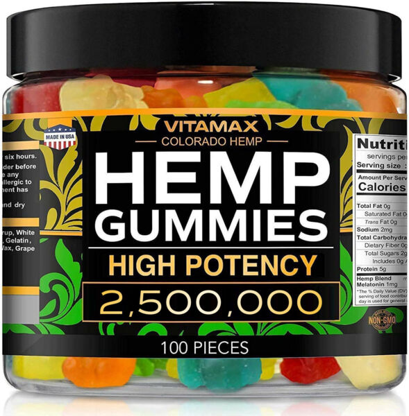Natural Gummies for Stress Relief Great for Pain Insomnia amp; Anxiety 100ct $27.95