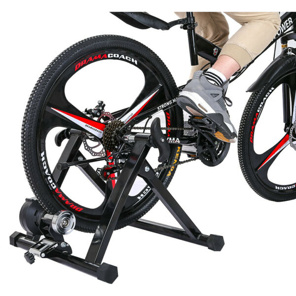 Indoor Bike Trainer Magnetic Exercise Stand Resistance Stationary for 24 28 inch $106.27