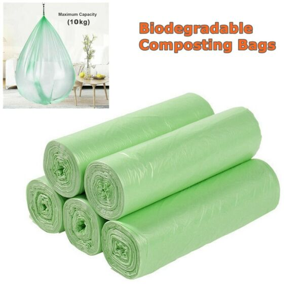 30Pcs Portable Composting Biodegradable Bags Camping Festival Toilet Home Clean $6.39