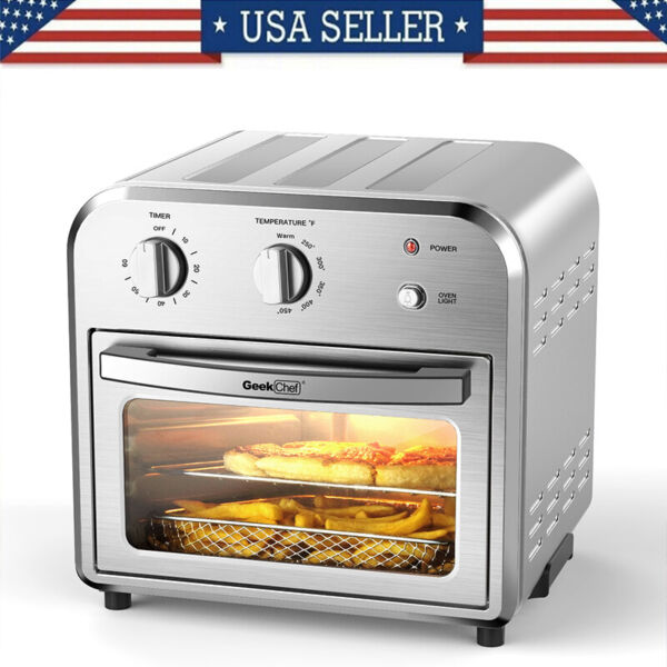 Air Fryer Toaster Oven 10.5 QT Dehydrate Convection Ovens w 3 Accessories 1500W
