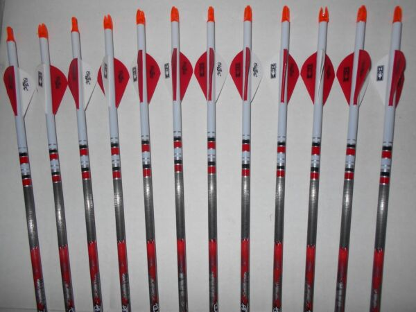 12 Easton Bloodline 400 6mm Carbon Hunting Arrows Dip Crested CUT TO LENGTH $109.99