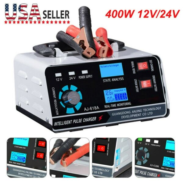 Heavy Duty Smart Car Battery Charger Automatic Pulse Repair Trickle 12V 24V USA $42.99