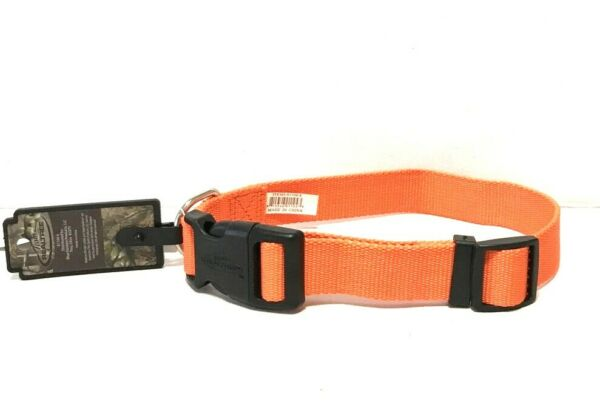 New REALTREE Buckle DOG COLLAR Double Ply Polyester Hunter ORANGE 14 20quot; Med US $9.87