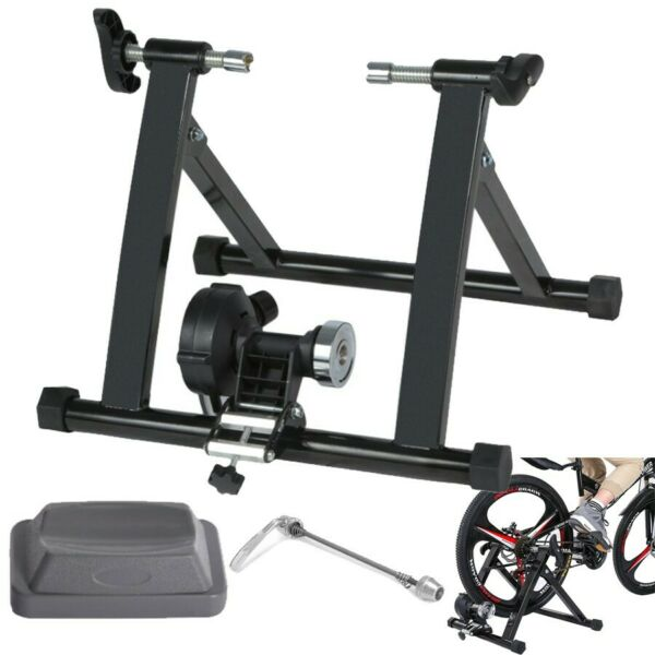 Bike Trainer Stand Magnetic Bicycles Stationary Stand For Indoor Exercis Indoor $87.99