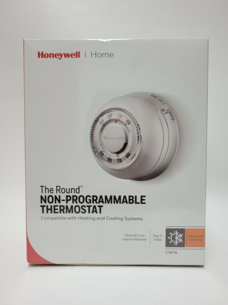 Honeywell The Round Heat Cool Non Programmable Dial Thermostat NEW CT87N White $29.99