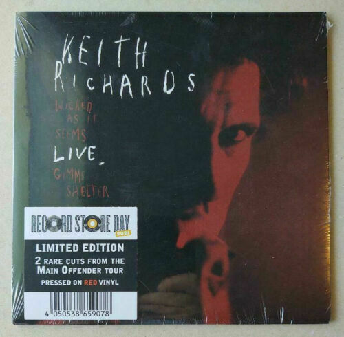 rare KEITH RICHARDS Wicked As It Seems Live RSD 2021 RED VINYL 45 rolling stones $29.95