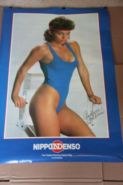 CANDACE COLLINS NIPPONDENSO SPARK PLUGS SIGNED POSTER $26.00