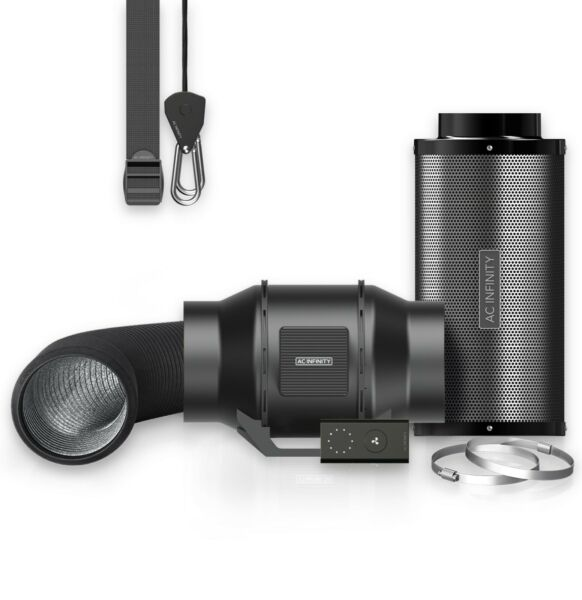Air Filtration Kit 6quot; Inline Fan Carbon Filter and Ducting Combo for Grow Tents $139.00