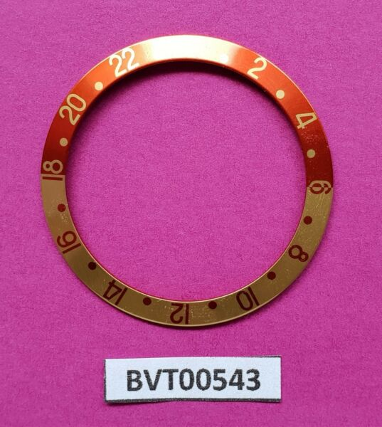 NEW AFTERMARKET FOR ROLEX GMT RED GOLD INSERT SAPPHIRE MODELS BVT00543 $11.99
