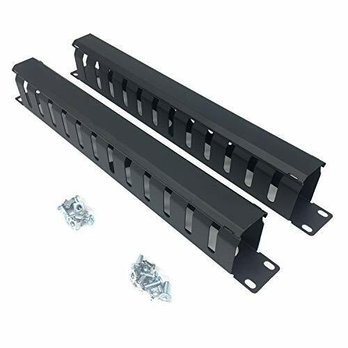 2 Pack All Metal 19 Inch Cable Manager Horizontal Rack Mount Organizer with ... $39.13