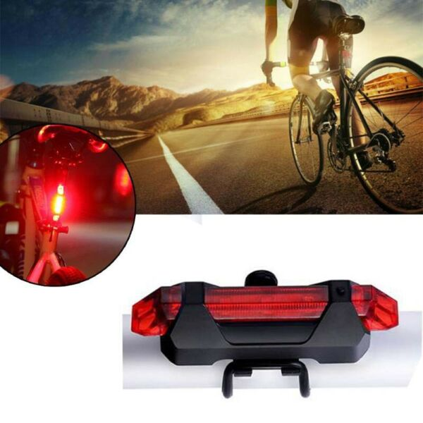 Bicycle Lights Bike Accessories USB LED Mountain Bike Tail Red Light MTB Back $10.99