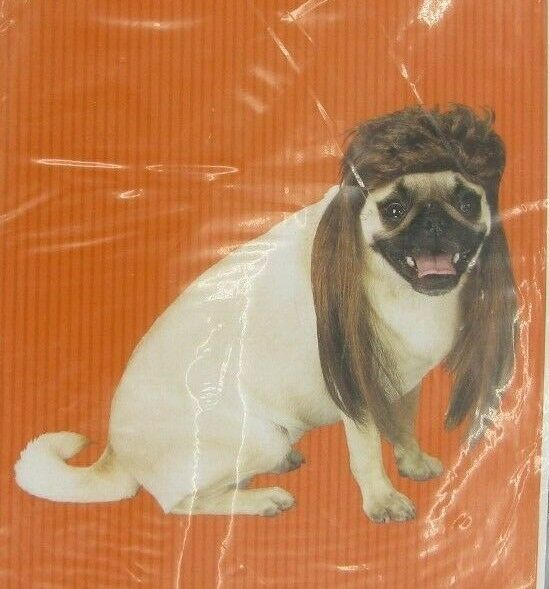 Dog Costumes Synthetic Hair Pet Wig mullet Pet Dog Wigs Brown $7.99
