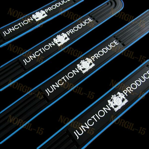 Blue Rubber Car Door Scuff Sill Cover Panel Step Protector Junction Produce Set