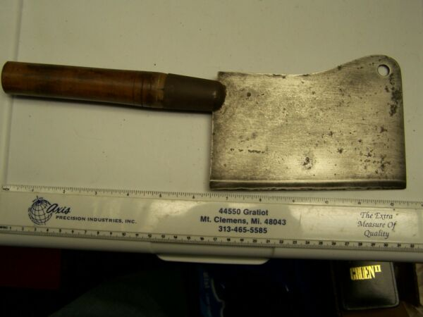 Antique Meat Cleaver 12 1 2quot; OAL 6quot; Long Blade Very Good or Better Condition