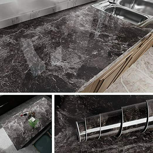 Dark Marble Wall Paper for Counter Top Covers Peel and Stick Wallpaper