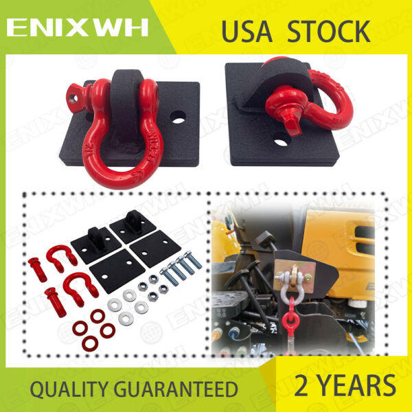 Bolt on Tractor Bucket Mount Hooks with 1 2in Shackle Loader Chain Grab Hook Set $42.99