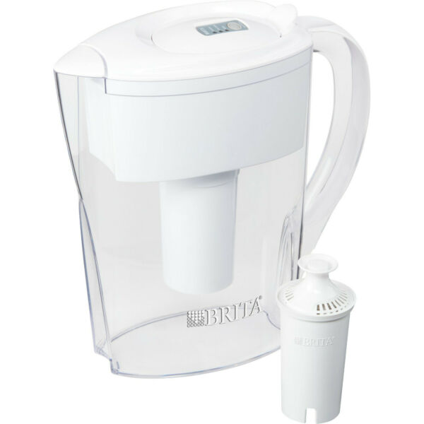 FREESHIPPING Brita Space Saver Water Filter Pitcher 6 Cup White