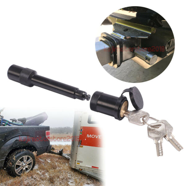 5 8quot; Black Trailer Hitch Locking Barbell Style Lock Pin Anti rattle 2quot; Receiver $12.00