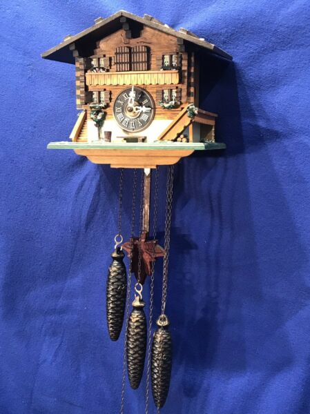vintage Germany Black Forest Strike Cuckoo ClockSwiss Musical3 Weight Driven