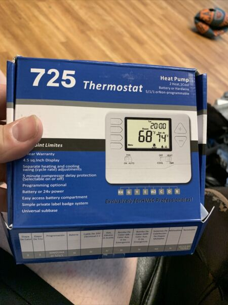 Heagstat H725 5 1 1 Day Programmable Heat Pump Thermostat 2 Heat 1 Cool With 4 $24.99