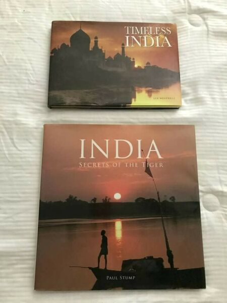 India Coffee Table Books x 2: Timeless India amp; India Secrets of the Tiger