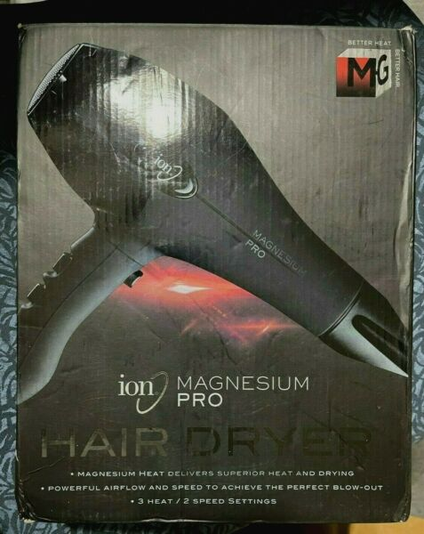 Ion Magnesium Pro Blow Dryer 3 Heat 2 Speed Settings Powerful Airflow $59.95