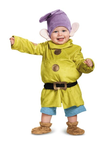 Deluxe Dopey Child Infant Baby Costume NEW Snow White and the Seven Dwarfs