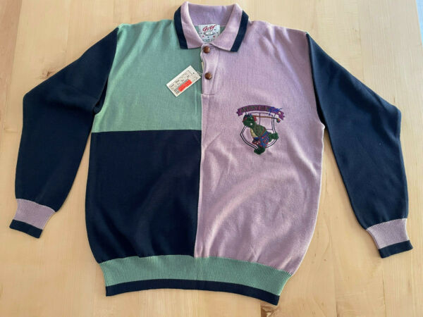 Vintage Sport Ice By Iceberg Mens Golf Sweater Medium New With Tags NWT $49.99