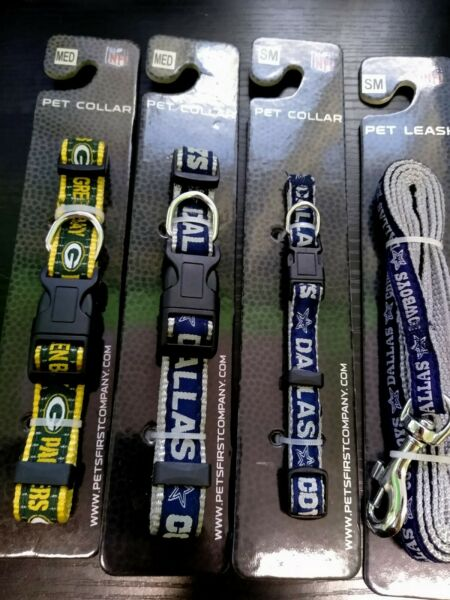 Official NFL Dog Collars Green Bay Packers or Dallas Cowboys $5.99