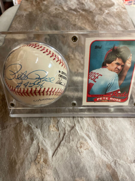 Pete Rose Autographed Offical MLB Baseball Total Hits 4256 $39.00