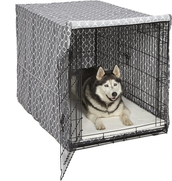 48quot; Dog Crate Cover Privacy Dog Crate Cover Fits MidWest Dog Crates Polyester $52.43