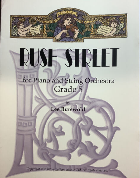 Rush Street for string orchestra and piano grade 5. Score and Parts. $8.00