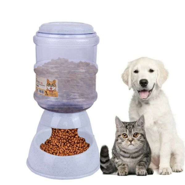 Pet Cat Dog Automatic Feeders Dispenser Automatic Gravity Feeders Bottle Stand $18.90