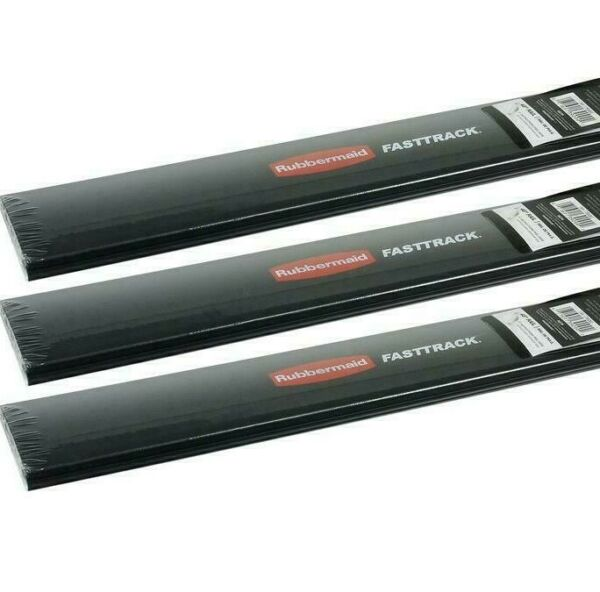 3 pack Rubbermaid FastTrack 36quot; Horizontal Wall Mounted Storage Rail Only NEW $37.00