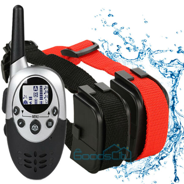 2600 FT Remote Dog Shock Training Collar Rechargeable Waterproof LCD Pet Trainer $32.86